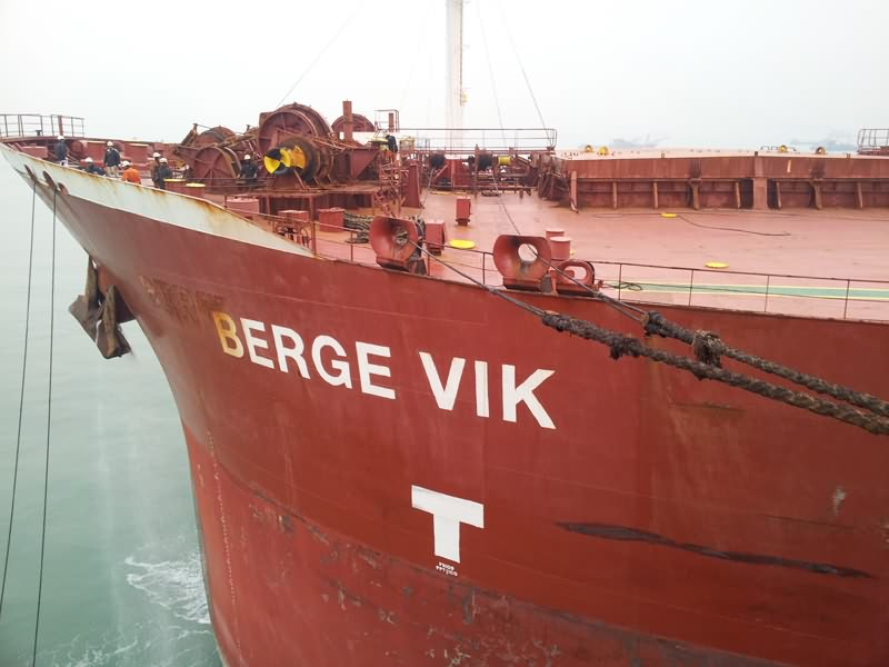 newly bulk ship agency services M/V BERGE VIK
