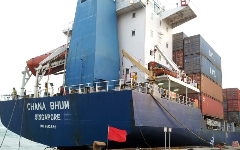 Newly liner agency service of ship's maiden voyage